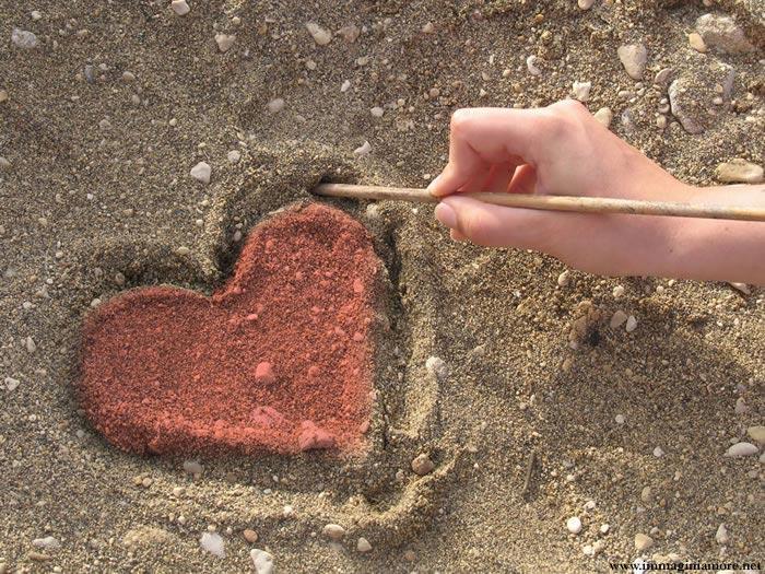 Immagine Cuore Su Sabbia